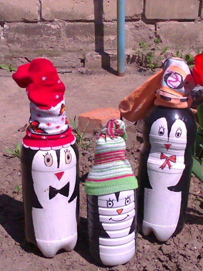 Поделки из пластиковых бутылок для дома и дачи (9)