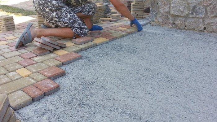 Укладка тротуарной плитки (3)