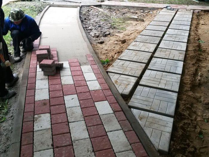 Укладка тротуарной плитки (57)