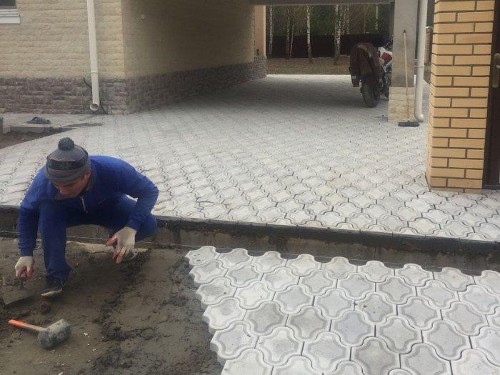 Укладка тротуарной плитки (77)