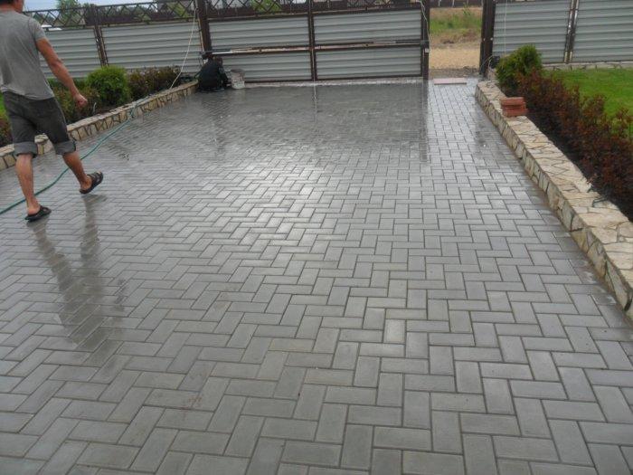 Укладка тротуарной плитки (80)