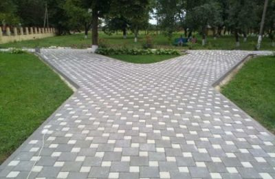 Укладка тротуарной плитки 82