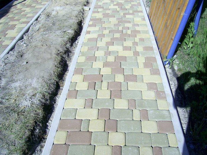 Укладка тротуарной плитки (90)