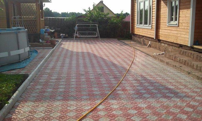 Укладка тротуарной плитки (95)