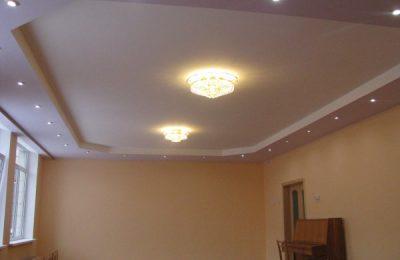 Преимущества гипсокартона для потолка