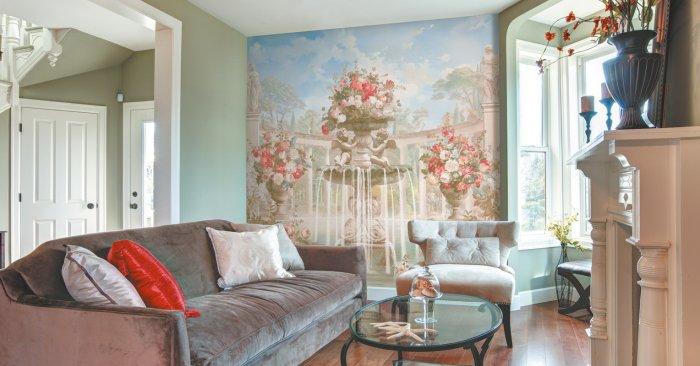 Фреска на холсте для отделки стен