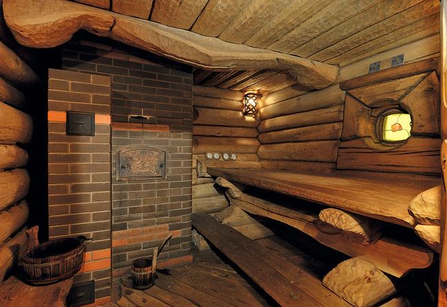 Баня с печью каменкой