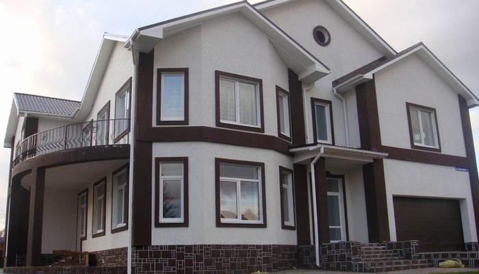 Варианты оформления фасада в частном доме