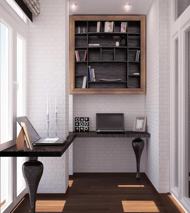 Мебель для кабинета на балконе