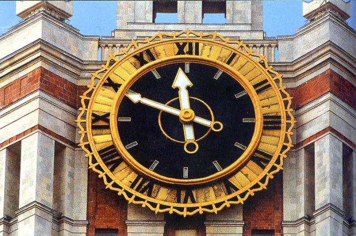 Современные уличные часы