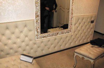 Облицовка стен кожаным материалом