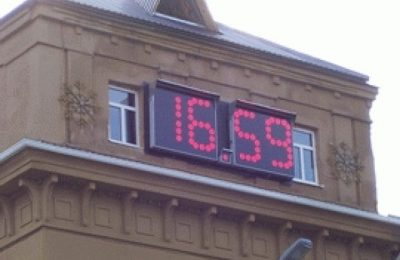Электронные уличные часы