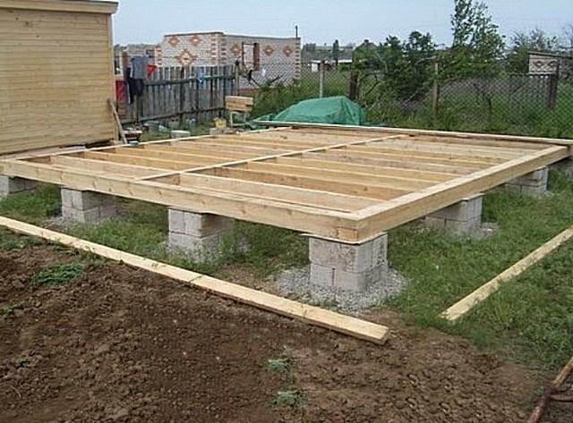 Этапы строительства веранды - фундамент