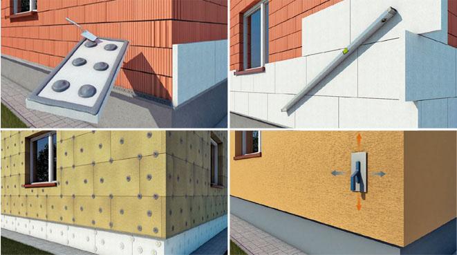Материалы для утепления фасада здания