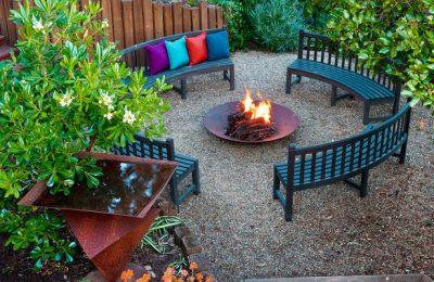 Оформление столовой в саду: все внимание на стол