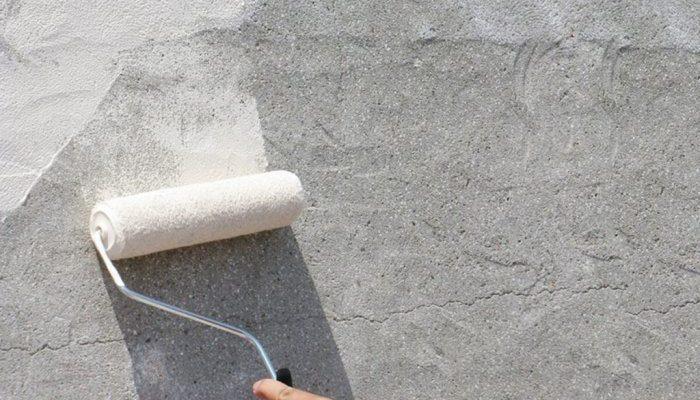 краска на бетоне