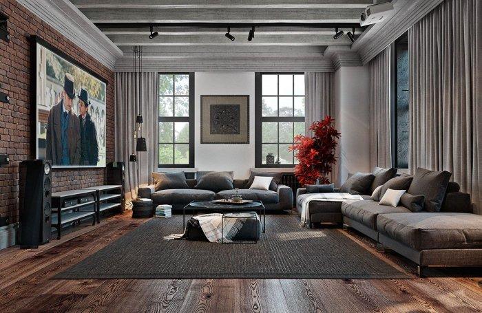 Модные стили для гостиной