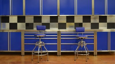 cabinets blue