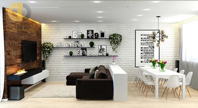dizayn kuhni gostinoy v stile loft foto interyera 01